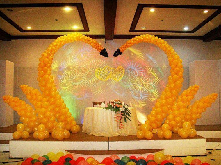 decoración con globos eventos
