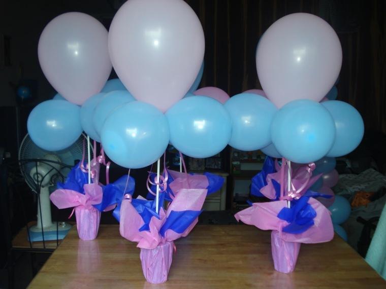 decoración con globos para cumpleaños interior