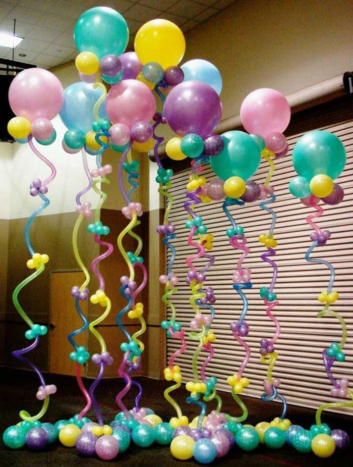 decoracion con globos puertas exteriores fuentes