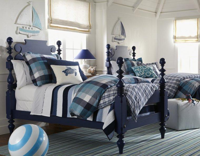 decoración de habitación para ninos azul marino ninos ideas