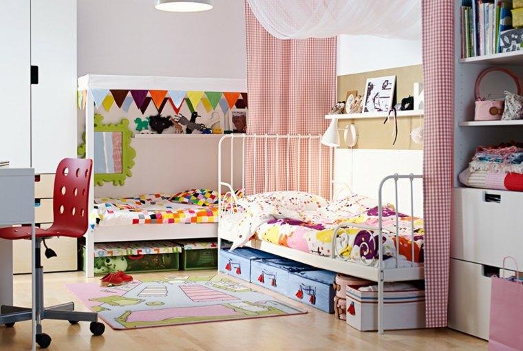 decoracion de habitación para ninos cama acero diseno clasico