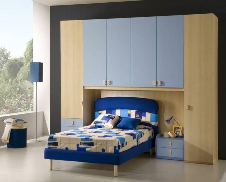 decoración de habitación para ninos cama azul ideas