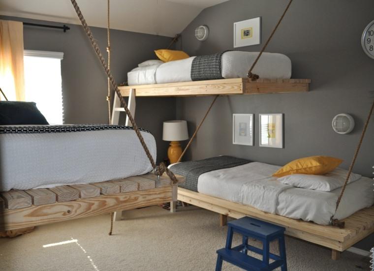 decoración de habitación para ninos camas colgantes ideas