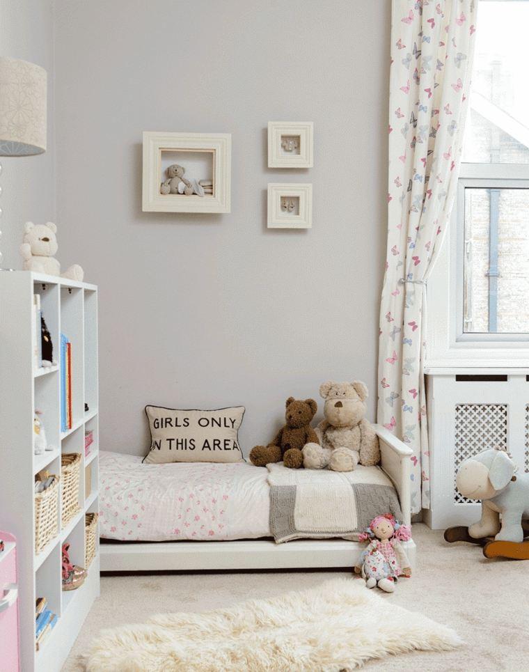 decoración de habitación para ninos chicas diseno sobrio ideas