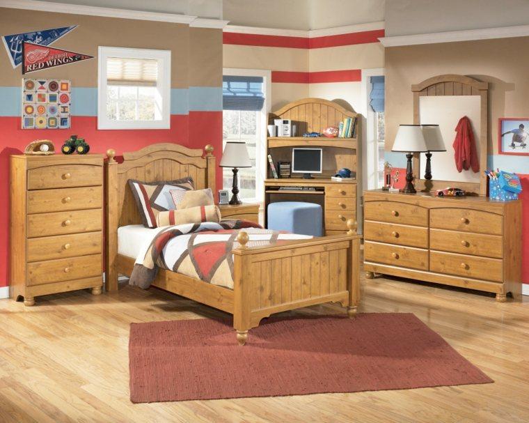 decoracion de habitacion para ninos madera estilo vintage muebles ideas