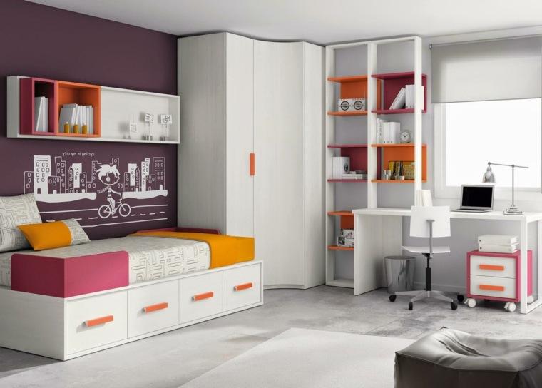 decoracion de habitacion para ninos muebles blancos diseno ideas