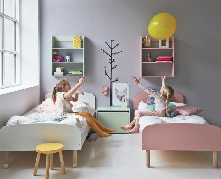 decoración de habitación para ninos opciones dos chicas ideas