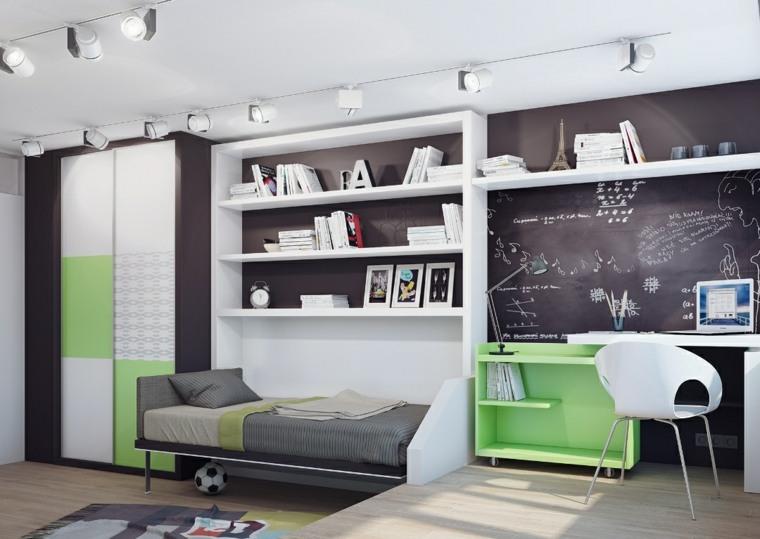 decoracion-de-habitacion-para-ninos-pared-negra-muebles-blancos
