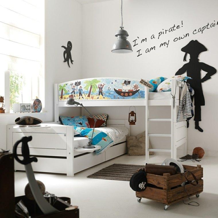 decoracion de habitacion para ninos piratas inspirado ideas