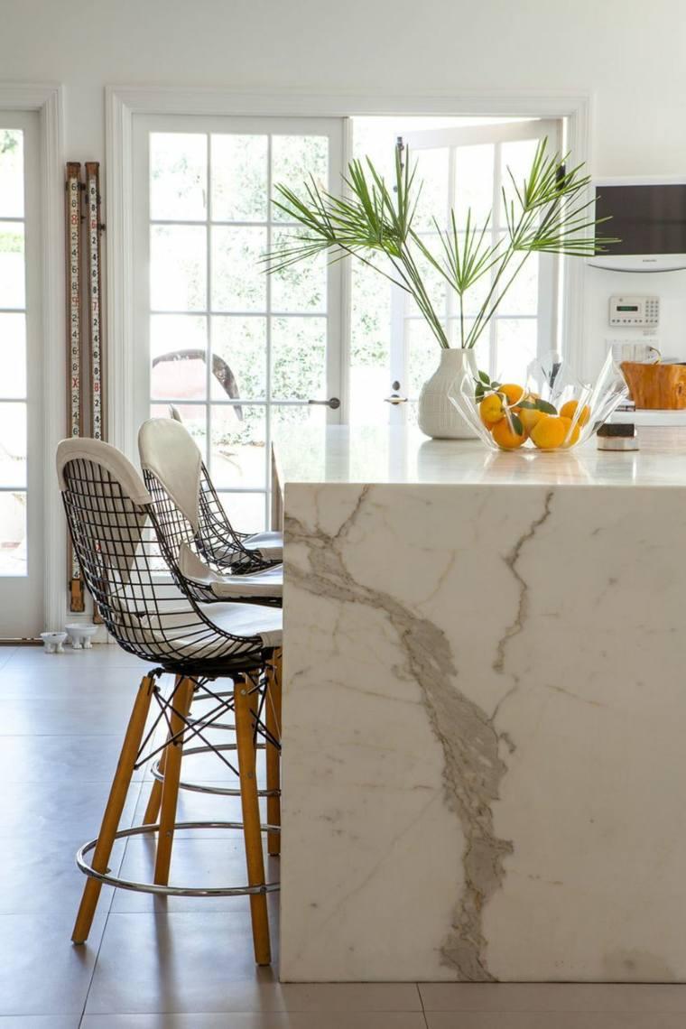 decoracion de interiores tendencias 2017 cocina isla marmol ideas