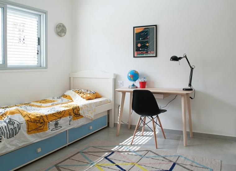 decoracion habitacion ninos cama escritorio ideas