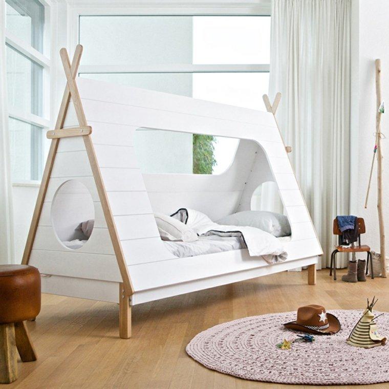 decoracion habitacion ninos cama imita tipi opciones
