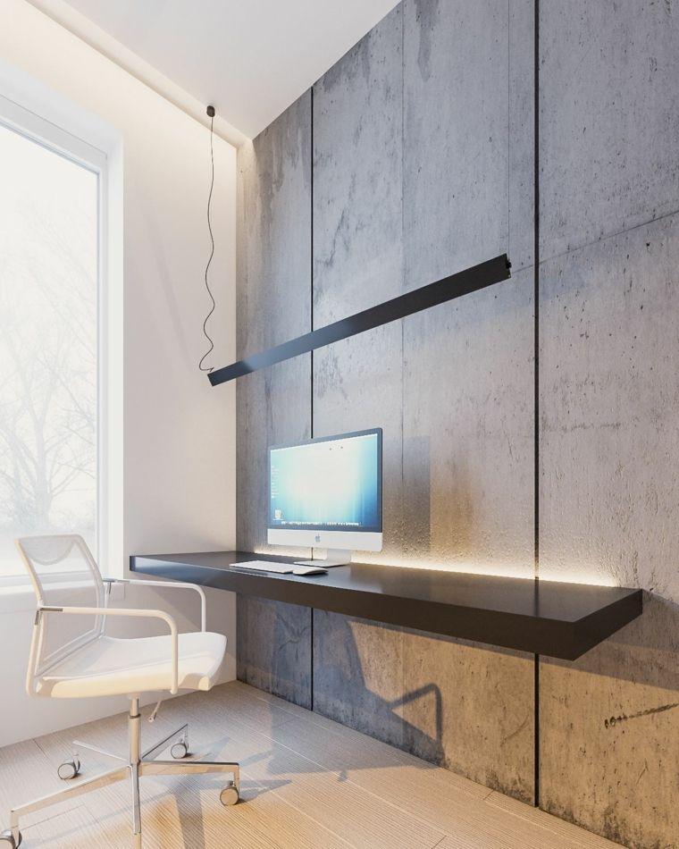 decoracion minimalista industrial oficina estudio