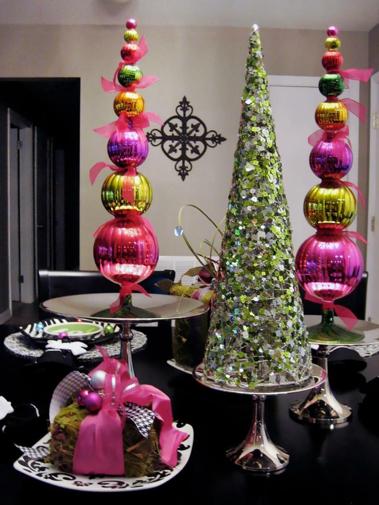 decoracion navidad centros mesa bolas