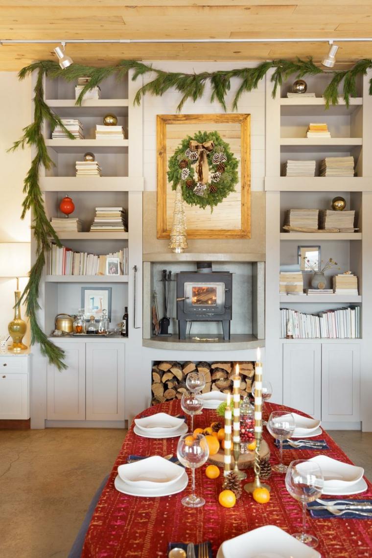 decoracion navidad rusticos diy leña