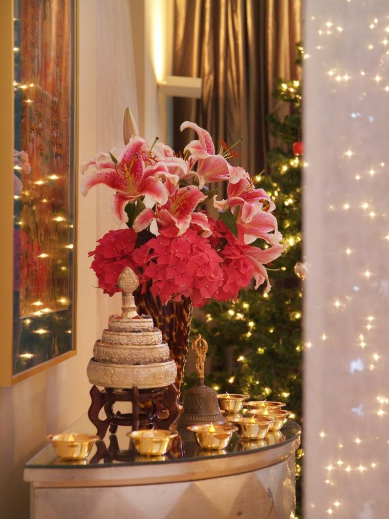 decoracion navidad velas arbol cortinas