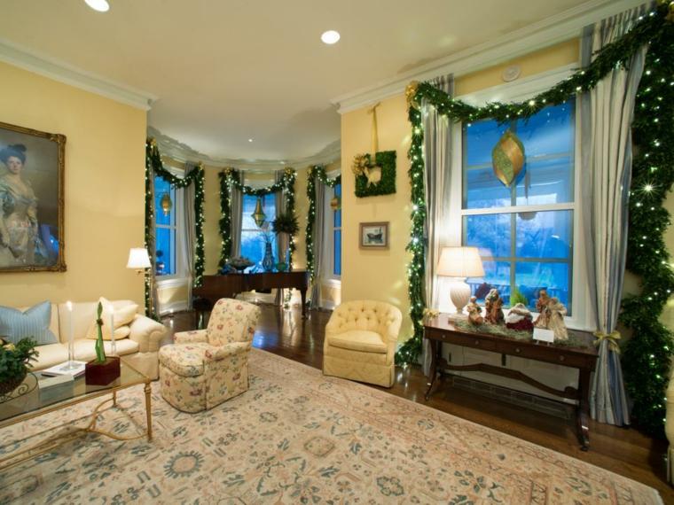 decoracion navidad ventanas luces materiales
