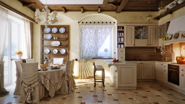 decoracion provenzal cocina comedor belleza ideas