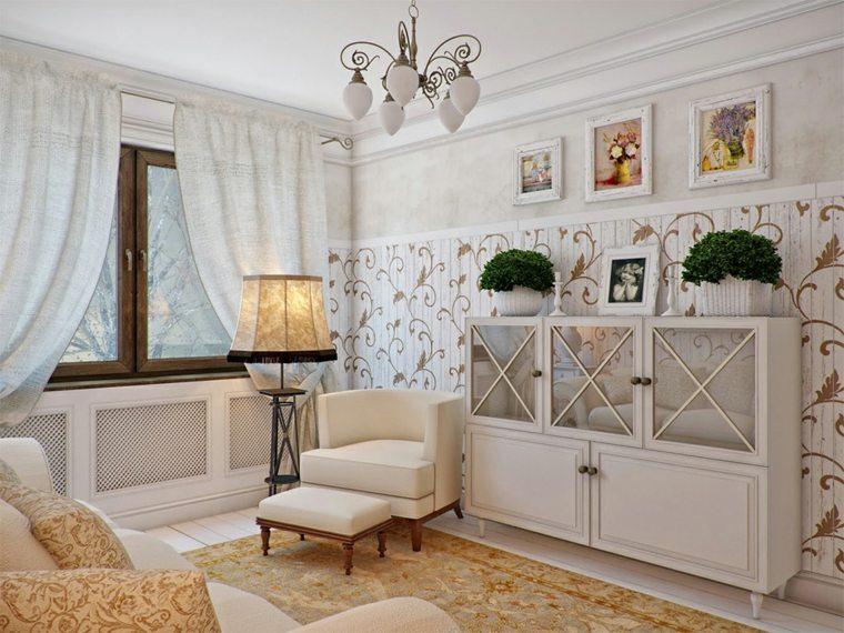 decoracion provenzal muebles salon diseno ideas
