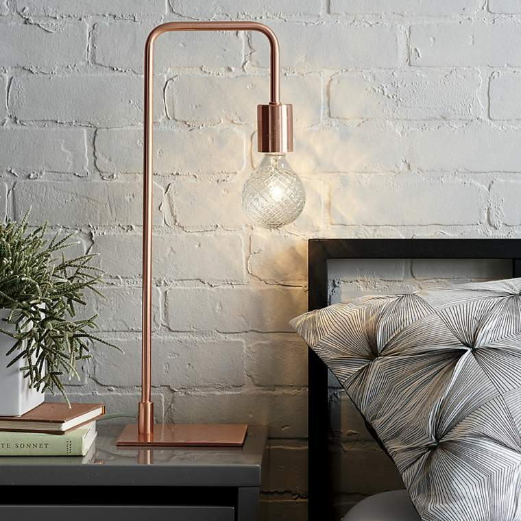 decoración de interiores tendencias 2017 lampara cobre opciones diseno ideas