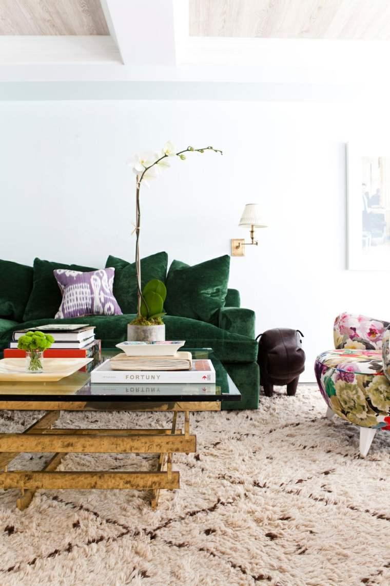 decoracion tendencias 2017 sillon colores estampa flores ideas