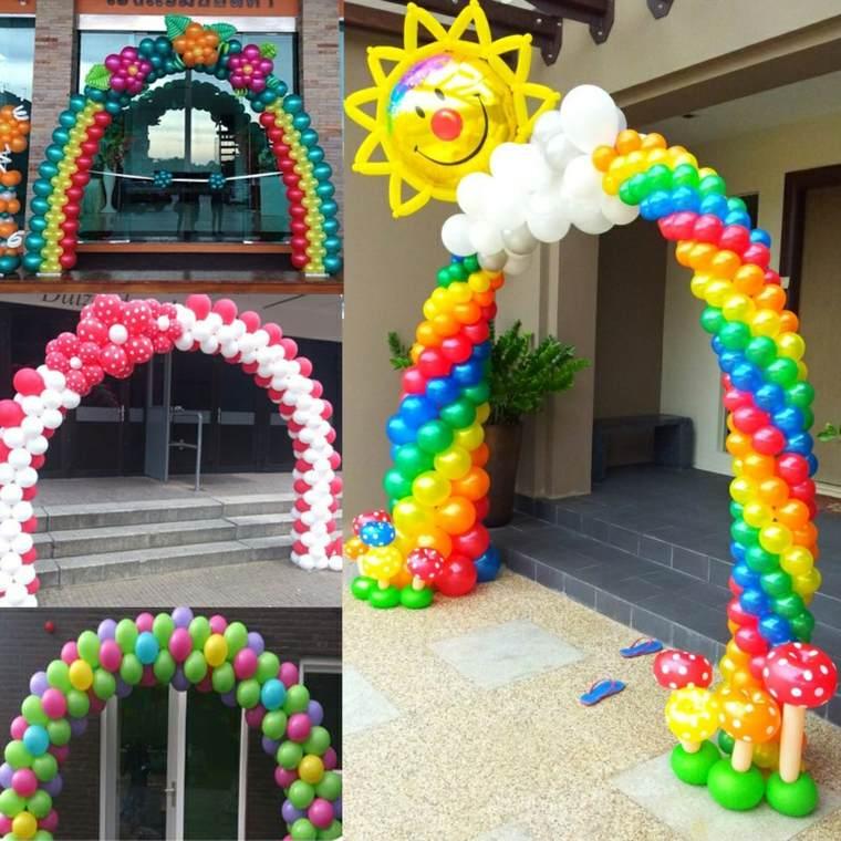 decoraciones con globos arca