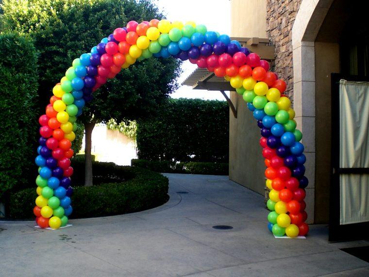 decoraciones con globos arcas