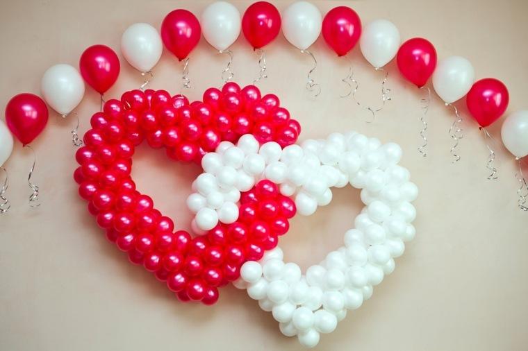 decoraciones con globos rojos blancos