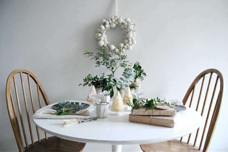 decorado navideño mesa