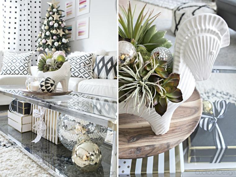 decorado navideño mesas