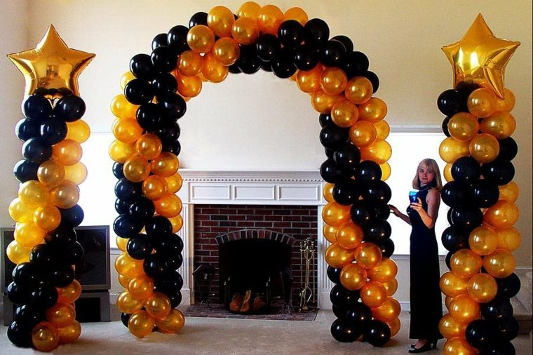 decorar con globos sin helio interior