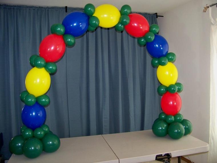 decorar con globos sin helio