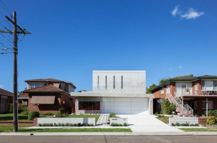 diseño abierto casa moderna especial colores