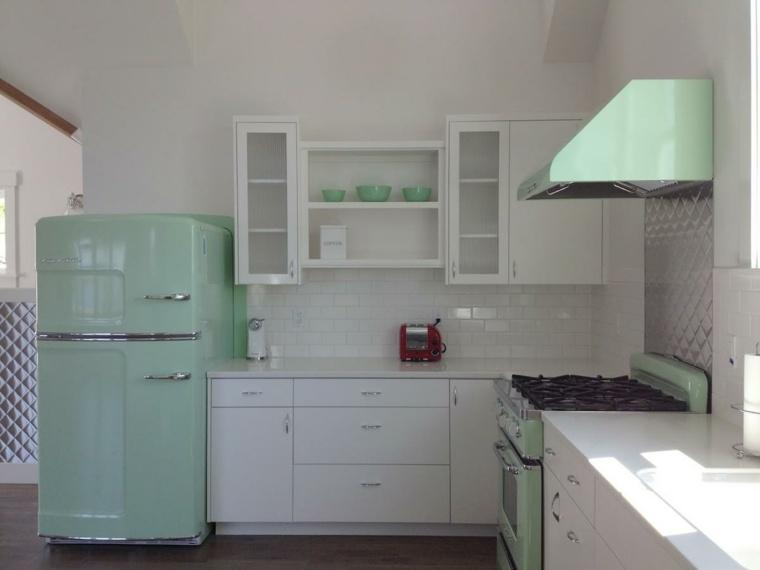 diseño cocina blanco menta