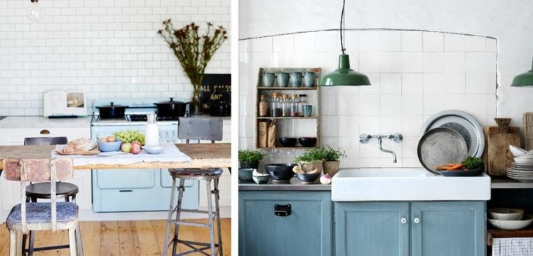 diseño cocina estilo shabby chic