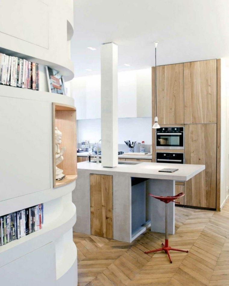 Mini cocinas c mo aprovechar su espacio al m ximo - Cocina moderna pequena ...
