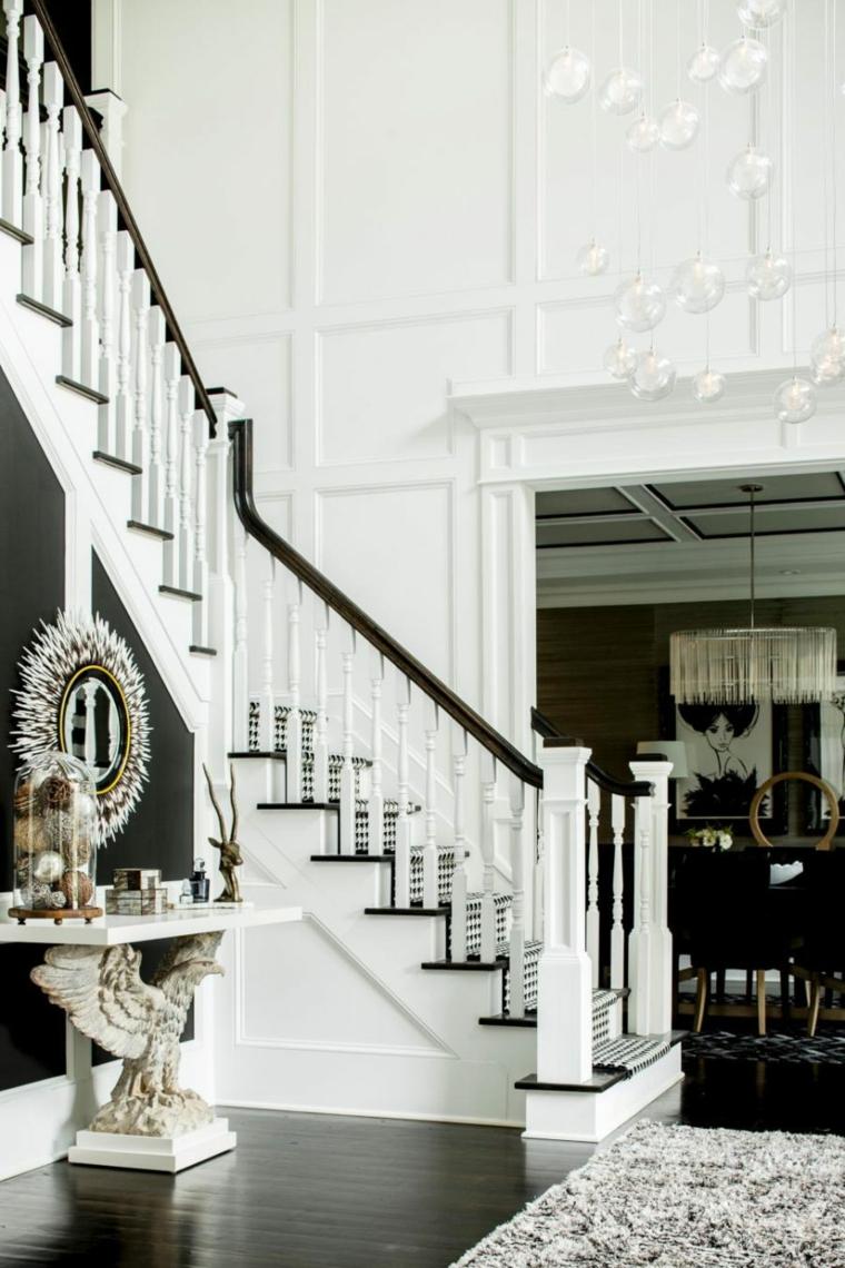 diseño escaleras pasillo recibidor