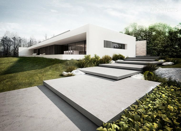 diseño jardín minimalista sencillo