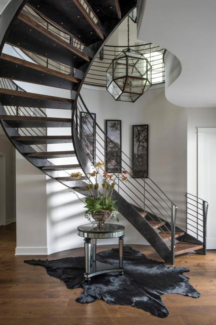 diseño pasillo escalera caracol