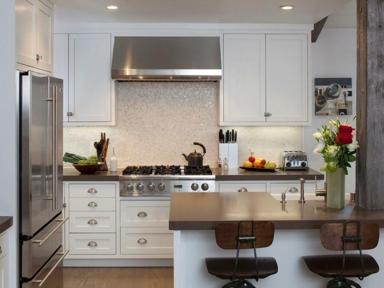 Cocinas modernas con barra 38 dise os que se ven for Disenos de cocinas integrales para espacios pequenos