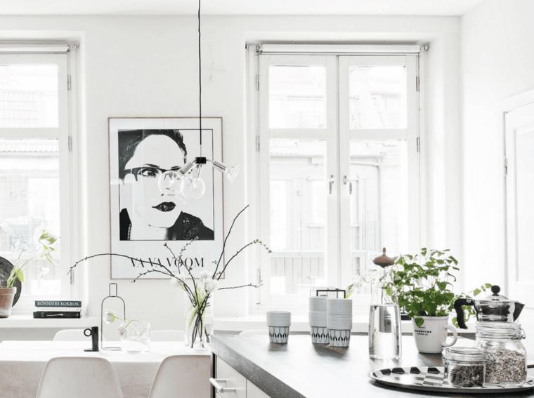 diseño salon comedor nordico