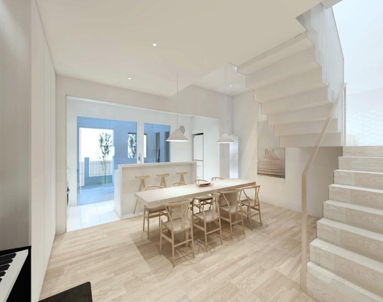 Escalera decorativa descubre los dise os m s extravagantes - Diseno salon comedor ...