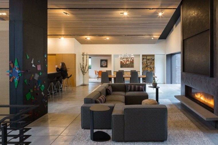 diseno salon lane williams architects ideas