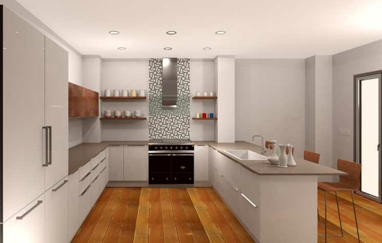 Diseños de salpicaderos de cocina modernos - 34 ideas -