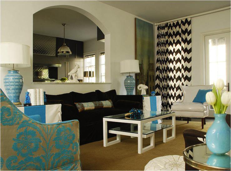 diseño cortina moderna chevron