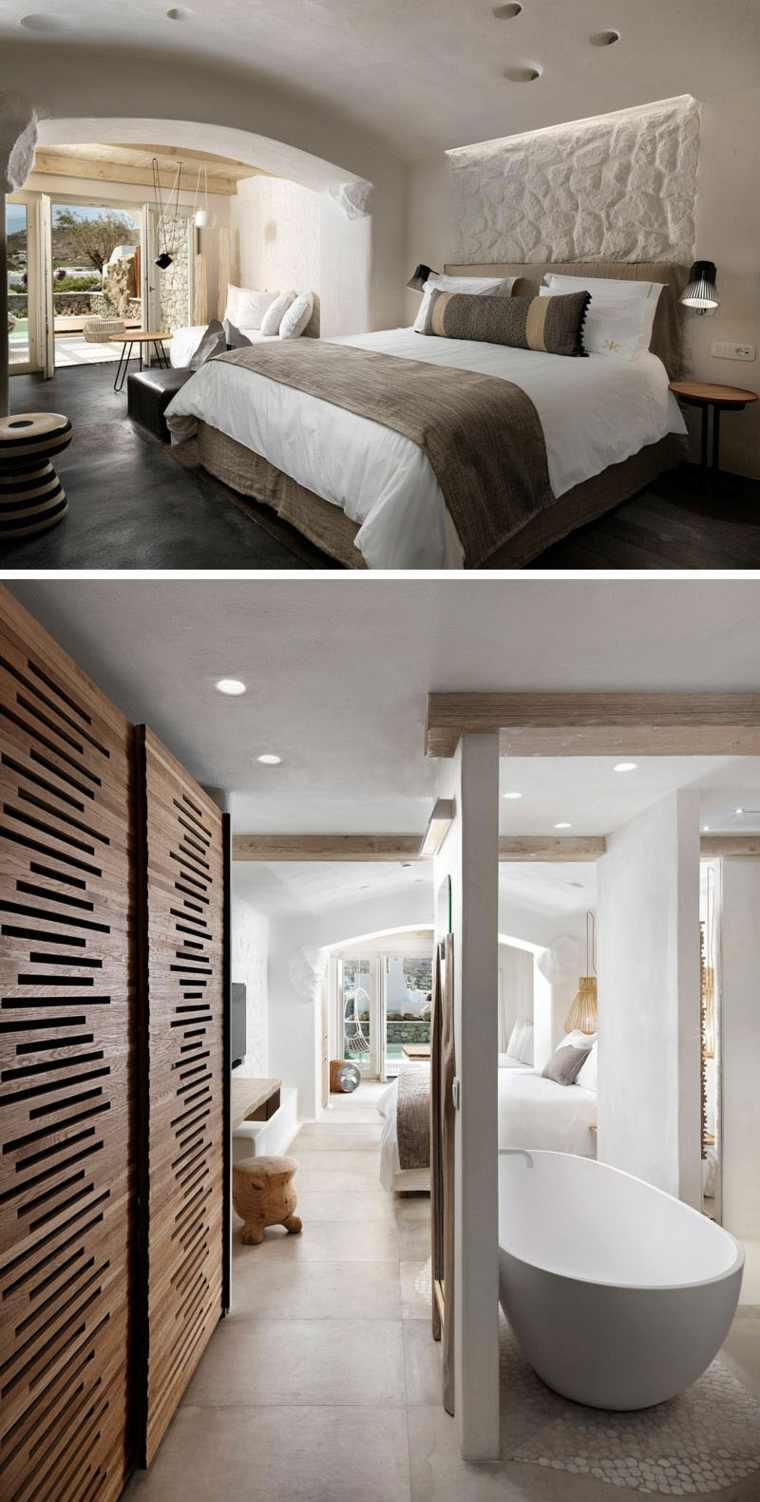 diseno dormitori madera piedra