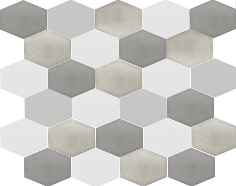 diseño azulejos modernos forma hexagonal