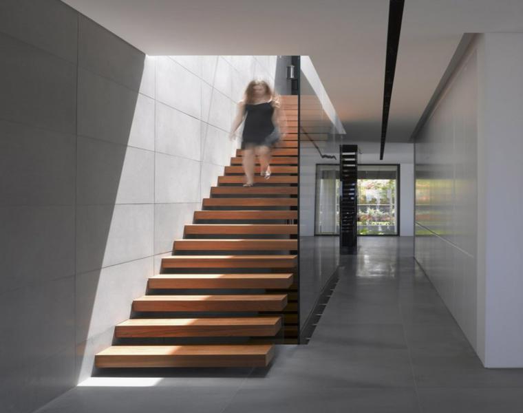 diseño orignal escalera flotante
