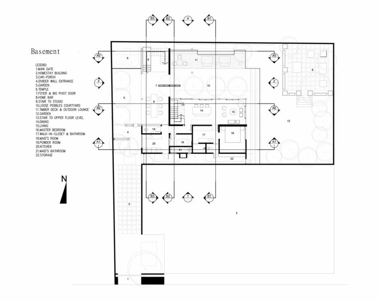 distribucion espacios casa moderna zonas