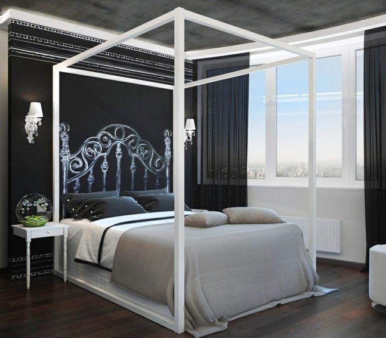dormitorio cama dosel diseno anna ahmatova ideas